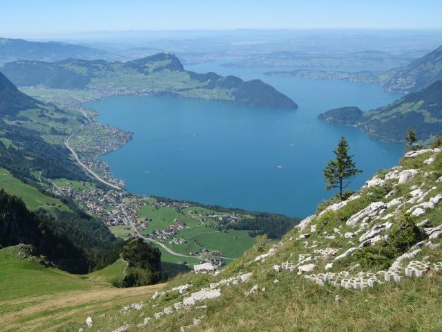 Blick vom Niederbauen-Chulm auf den Vierwaldstättersee